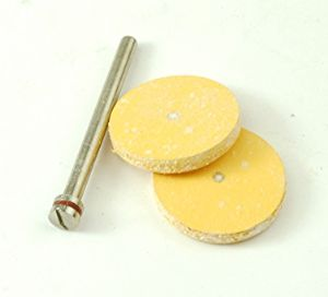 Rubber Polishing Discs x 2 with Arbor. X1204